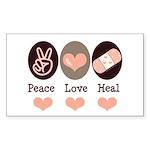 Heal Nurse Doctor Rectangle Sticker