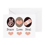 Heal Nurse Doctor Greeting Cards (Pk of 10)