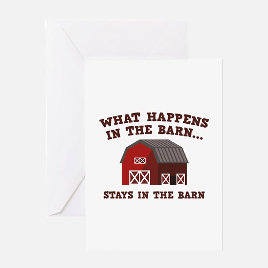 What Happens In The Barn Greeting Card
