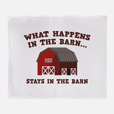 What Happens In The Barn Stadium Blanket