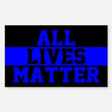 All Lives Matter Blue Lives Decal