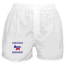Christian Fish Democratic Donkey Boxer Shorts