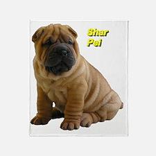 Cute Shar pei Throw Blanket
