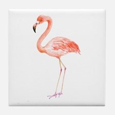 Watercolor Flamingo Tile Coaster