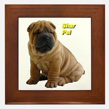 Shar Pei Framed Tile