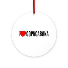 I Love Copacabana Ornament (Round)