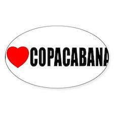 I Love Copacabana Oval Decal