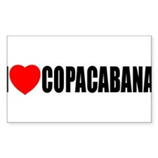 I Love Copacabana Rectangle Decal