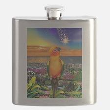 Sun Conure at Sunset Flask