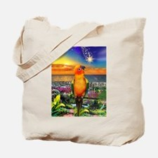Sun Conure at Sunset Tote Bag