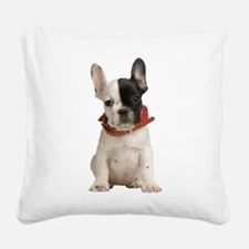 French Bulldog Square Canvas Pillow