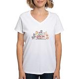 Shiba inu Womens V-Neck T-shirts