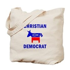 Christian Fish Democratic Donkey Tote Bag
