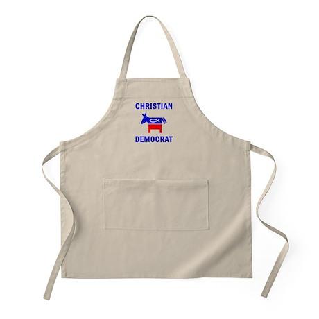 Christian Fish Democratic Donkey BBQ Apron