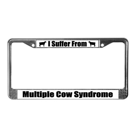 Multiple Cow Syndrome License Plate Frame