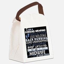 Cute Midwife Canvas Lunch Bag