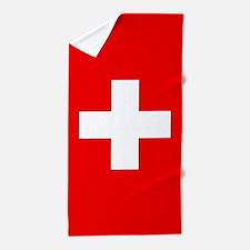 Flag of Switzerland Beach Towel