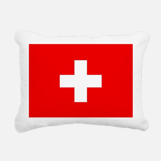 Flag of Switzerland Rectangular Canvas Pillow