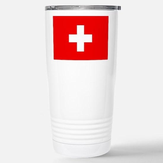 Flag of Switzerland Stainless Steel Travel Mug