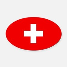 Flag of Switzerland Oval Car Magnet