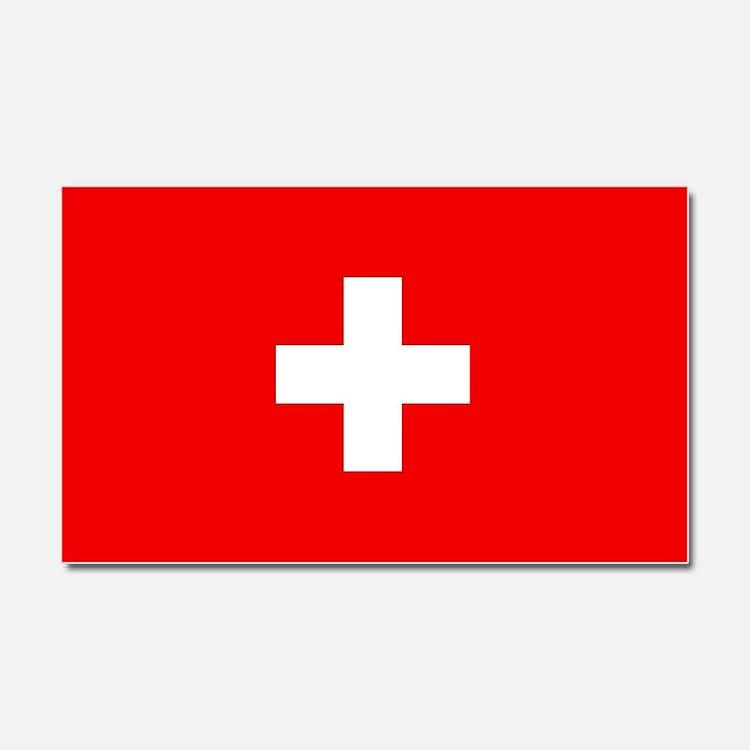Flag of Switzerland Car Magnet 20 x 12