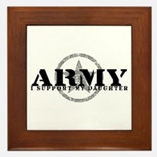 Army - I Support My Daughter Framed Tile