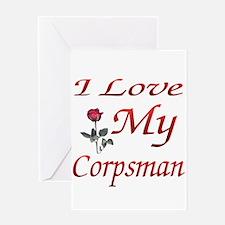 i love my corpsman Greeting Card