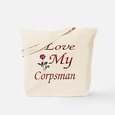 i love my corpsman Tote Bag