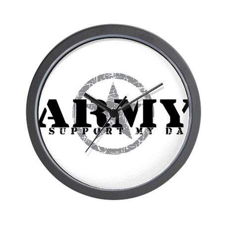 Army - I Support My Dad Wall Clock
