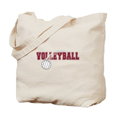 Volleyball with red type Tote Bag