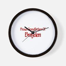 Proud Grandfather of Brayden Wall Clock