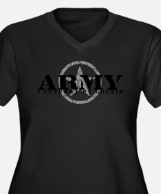 Army - I Support My Cousin Women's Plus Size V-Nec