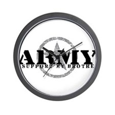 Army - I Support My Brother Wall Clock