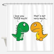 Cute T rex Shower Curtain