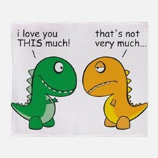 Cute Dinosaur Throw Blanket