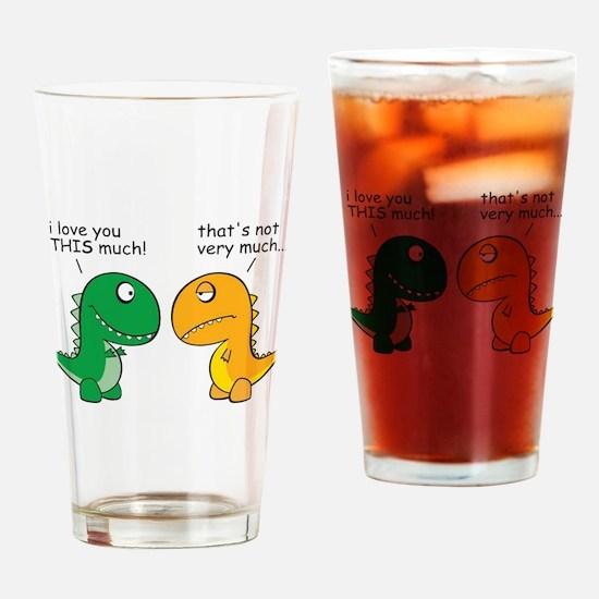 Cute Funny dinosaur Drinking Glass