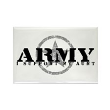 Army - I Support My Aunt Rectangle Magnet
