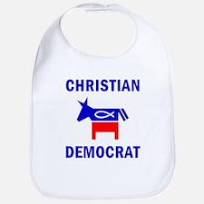 Christian Fish Democratic Donkey Bib