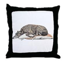 Funny Greyhound Throw Pillow