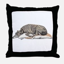 Cute Greyhound Throw Pillow