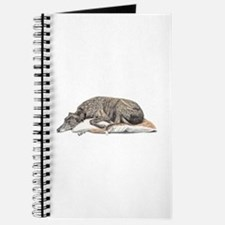 Cute Greyhound dog breed Journal
