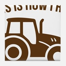 Cute Tractor funny Tile Coaster