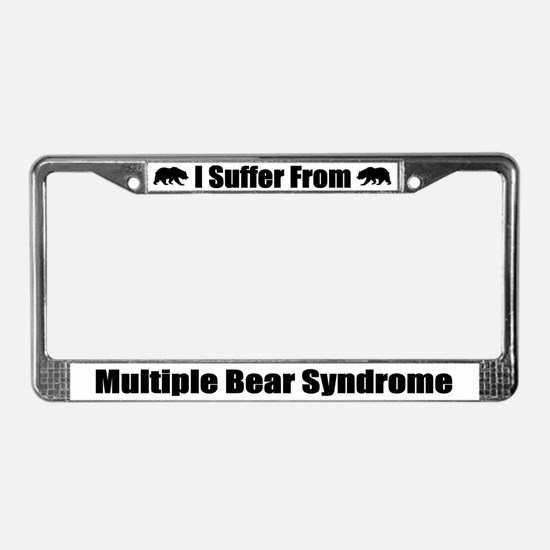 Multiple Bear Syndrome License Plate Frame
