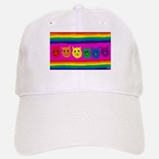 rainbow cat art Baseball Baseball Cap