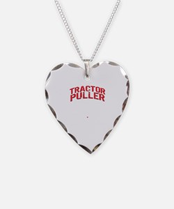 Cute Tractor pulling Necklace