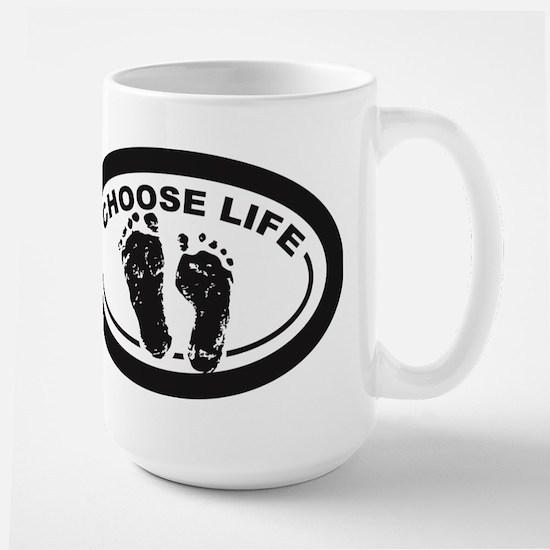Choose Life Oval Mugs