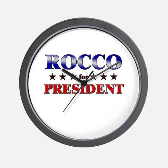 ROCCO for president Wall Clock