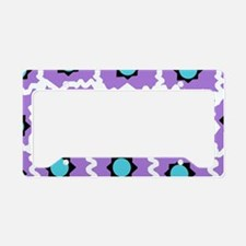 Crazy space orb plaid in white and pink License Pl