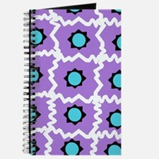 Crazy space orb plaid in white and pink Journal