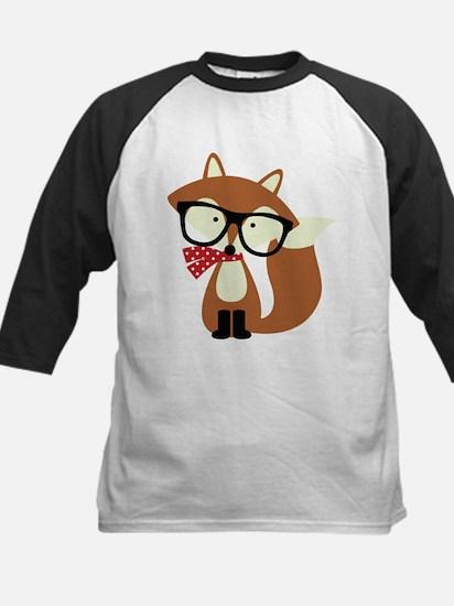 Holiday Hipster Brown Fox Baseball Jersey
